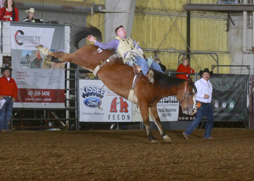 Bareback Champion Cody Parker on Big Horn Rodeo's #804